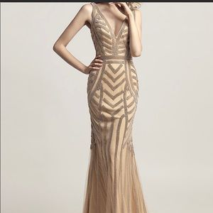 Dresses & Skirts - Champagne/gold dress size 20. Brand new.